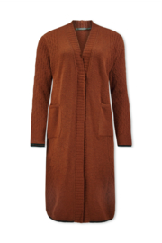 Lizzy & Coco enit cardigan long soft knit amber