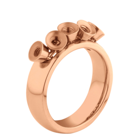 Twisted ring Tess rosé goud