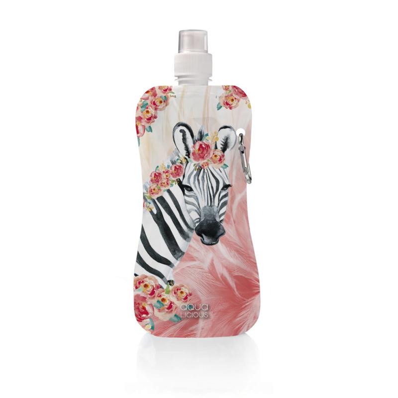Aqua Licious Waterflesje Zebra Boho