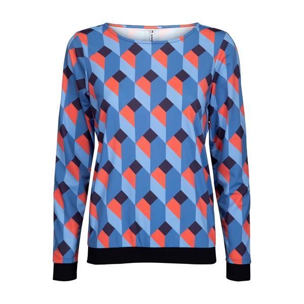 Zoso 194Bessy Printed techfabric blouse