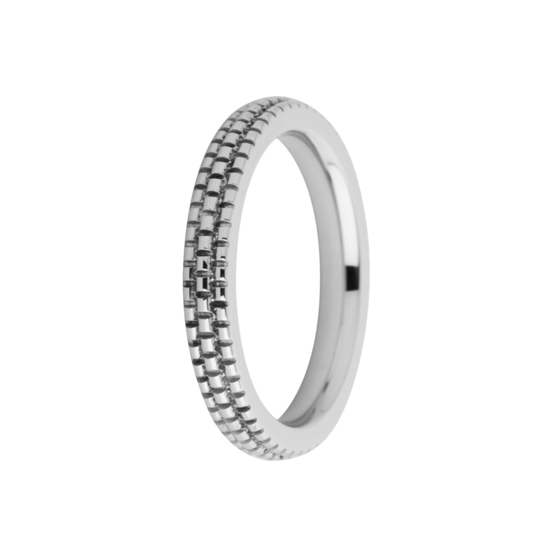 Friends ring Sarah refined engraved zilver