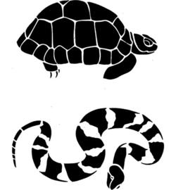 sjabloon schildpad/slang A5