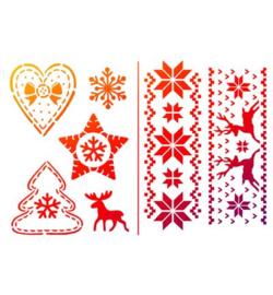 sjabloon Noorwegen kerst A5
