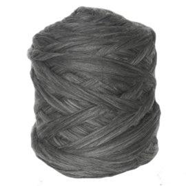 Lontwol melange grijs