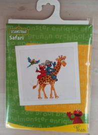 Borduurpakket Sesamstraat Safari