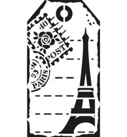 sjabloon etiket Paris A5