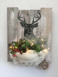 Workshop wollig kerstbord maandag 9 november