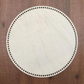 Houten bodem voor mand of tas 28cm