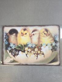 Nostalgisch bordje 4 in een ei P21