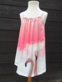 Zomer jurkje flamingo maat 128
