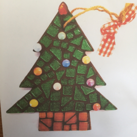 Diy mozaïek pakket kerstboom