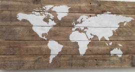 Keuze workshop wereldkaart op hout
