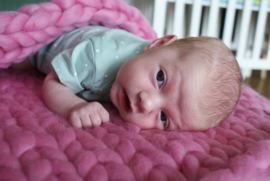 Babydeken merino roze