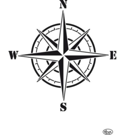 sjabloon Compass Rose A4