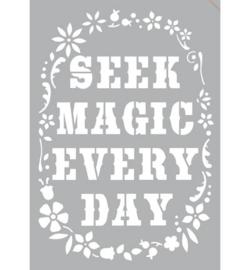 sjabloon zelfklevend Seek Magic Every Day A4
