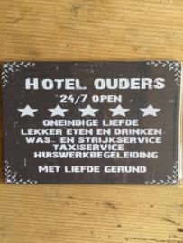 Nostalgisch bordje 259 Hotel ouders......