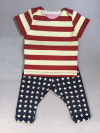 Baby set stars and stripes maat 68