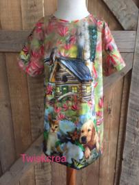 Tuniek/jurk kat en hond maat 116