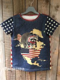 t-shirt wasbeer maat 134