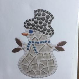 Diy mozaïek pakketje sneeuwpop