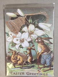 Nostalgisch bordje easter greetings P15