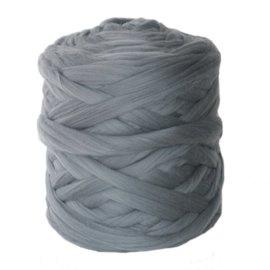 Lontwol grijs