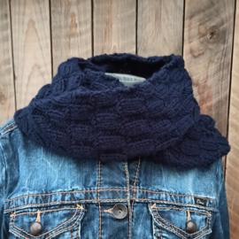 Col/sjaal donkerblauw