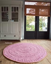 Vloerkleed roze 135cm