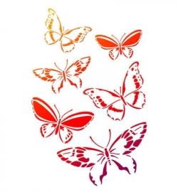 Sjabloon butterflies swarm A4