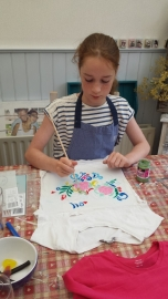 Keuze kinderworkshop t-shirt pimpen