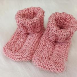 Baby slofjes/sokjes oud roze