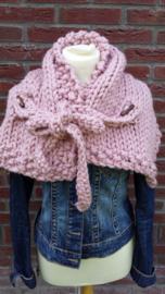 Sjaal oud roze