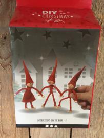 Diy kerst pakketje draad kabouters