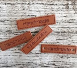 Nep leren label rechthoek handmade