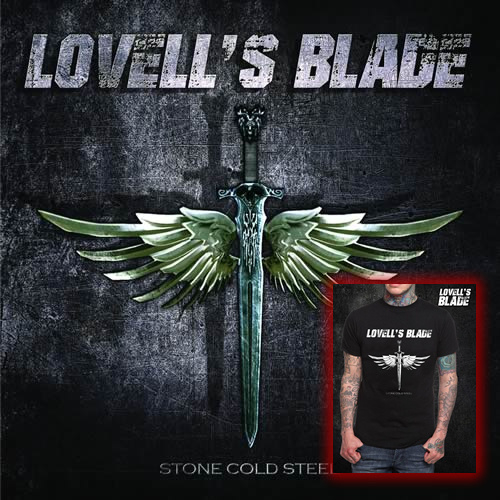 Release package CD - Stone Cold Steel + T-Shirt