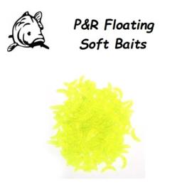 P&R Floating-Soft Baits Maggot Groen 10stuks