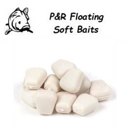 P&R Floating-Soft Baits Mais Fluo Wit 10mm 10stuks