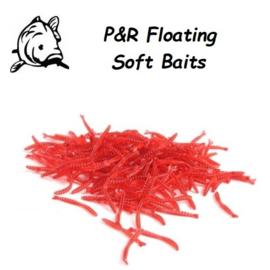 P&R Floating-Soft Baits Worm 10stuks
