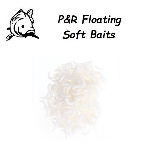 P&R Floating-Soft Baits Maggot Wit 10stuks