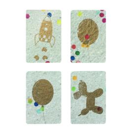minicards confetti