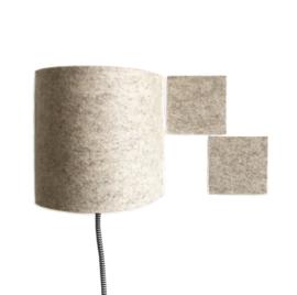 walllamp + vierkantjes