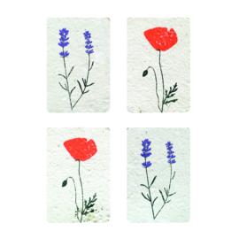 minikaartjes bloemen