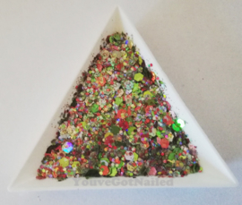 Chunky glitter mix - Merry