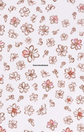 Stickervel bloemen 079 thema