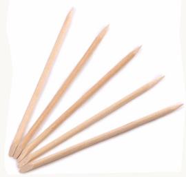 Rozenhoutstokjes / Orange woodsticks 10 stuks