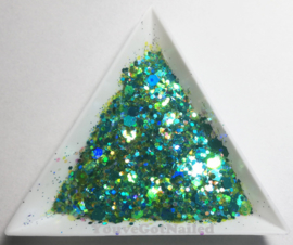 Chunky glitter mix - Peacock