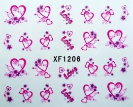 Water Decal Heart/Love