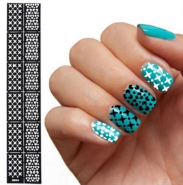 Nail art sjabloon 4
