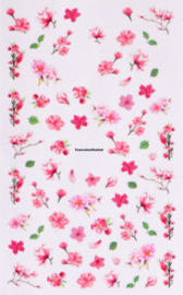 Stickervel bloemen 197 thema