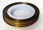 Striping tape Goud